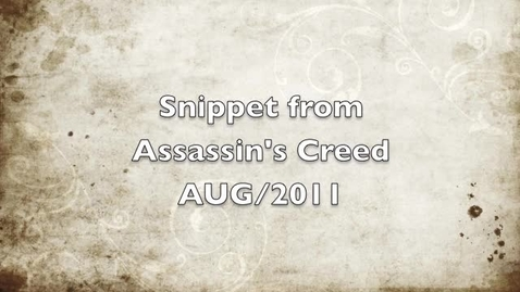 Thumbnail for entry Assassins Creed