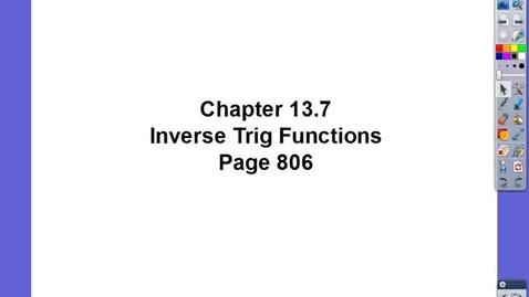 Thumbnail for entry Algebra II Ch 13.7
