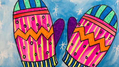 Thumbnail for entry Matching Mitten Drawing