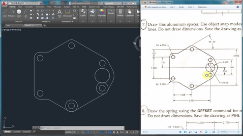 Thumbnail for entry AutoCAD LESSON 3H-6