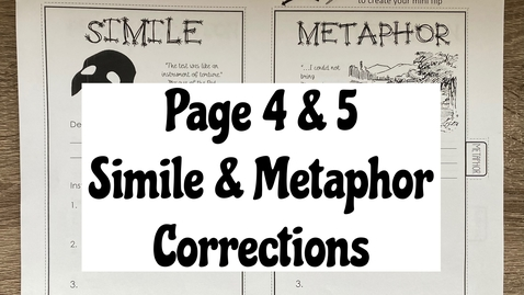 Thumbnail for entry Page 4 & 5 - Simile & Metaphor
