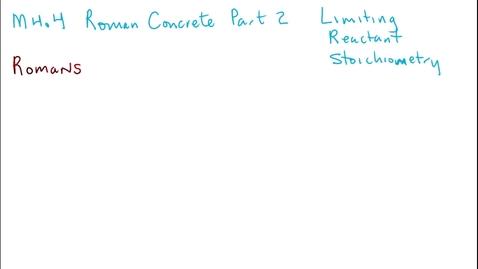 Thumbnail for entry Clip of M4.4 Roman Concrete Part 2