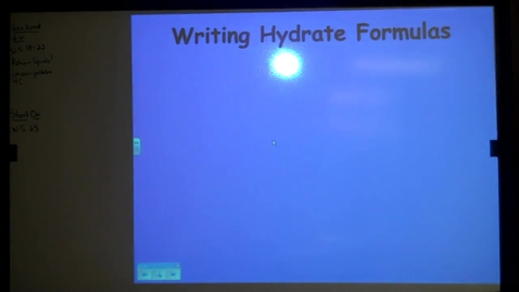 Thumbnail for entry Unit 4: Hydrate Formulas