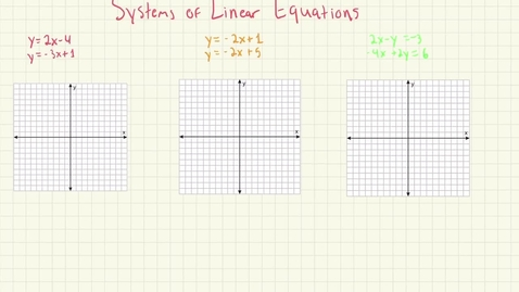 Thumbnail for entry Systems of Linear Equations