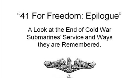 Thumbnail for entry 41 FOR FREEDOM: Epilogue