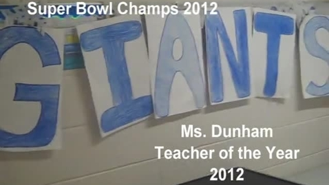 Thumbnail for entry Teacher of the Year