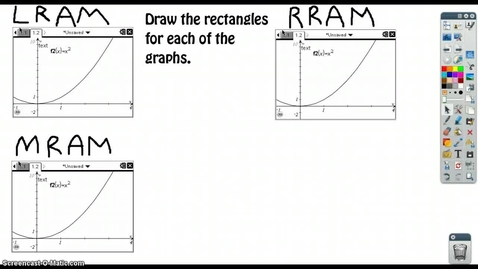 Thumbnail for entry C.4.2 - Left, Midpoint, and Right Rectangle Riemann Sums