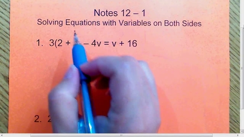 Thumbnail for entry 12.1 Variables on both sides