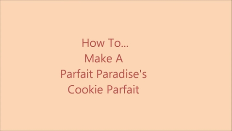 Thumbnail for entry Cookie Parfait