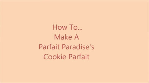 Thumbnail for entry Cookie Parfait
