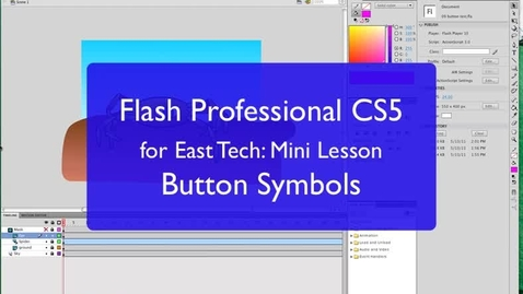 Thumbnail for entry Creating Button Symbols in Flash CS5
