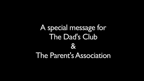 Thumbnail for entry Ladue Dad's Club and Parents Association Student Thank You Shout-Out!