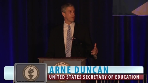 Thumbnail for entry Arne Duncan: 2014 NASSP/Virco National Assistant Principal of the Year Program