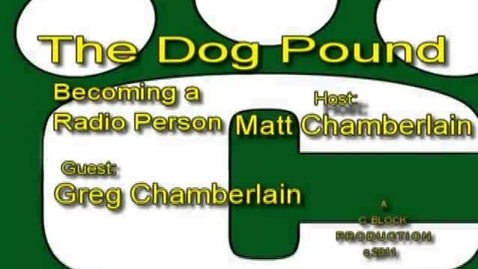 Thumbnail for entry The Dog Pound: Guest Greg Chamberlain
