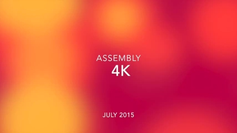 Thumbnail for entry 4K Class Assembly July 2015