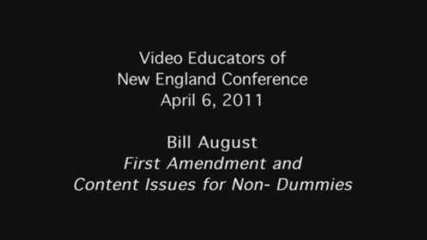 Thumbnail for entry Bill August: VENE Conference