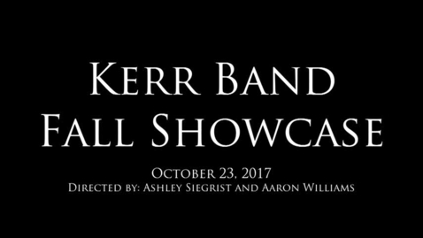 Thumbnail for entry Band Fall Showcase