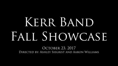 Thumbnail for entry Band Fall Showcase