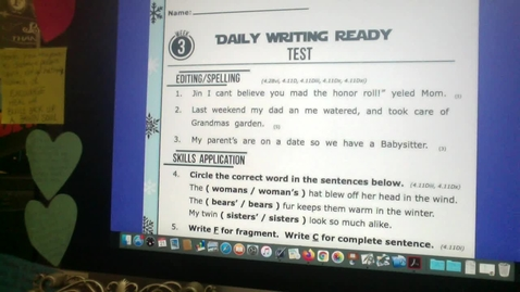 Thumbnail for entry Daily WRITING Ready Test Jan. 21