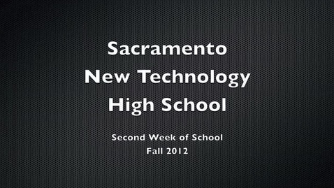 Thumbnail for entry Second Week at New Tech