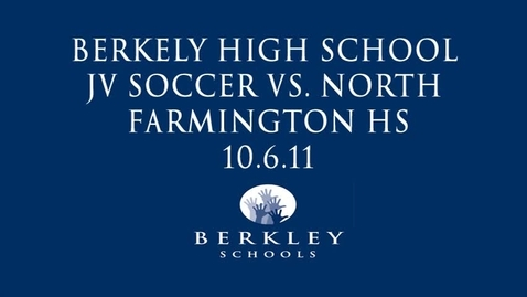 Thumbnail for entry JV Soccer vs. North Farmington HS 2011