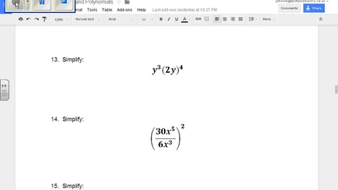 Thumbnail for entry SOL Review Polynomials Question 13 Properties of Exponents