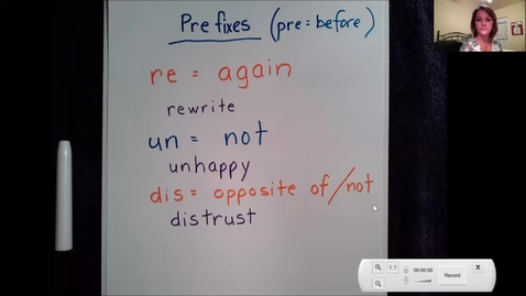 Thumbnail for entry 4-8 Prefix and Suffix lesson