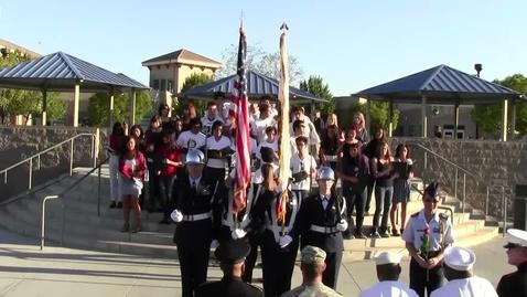 Thumbnail for entry VMHS 9/11 Ceremony JROTC