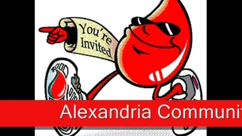 Thumbnail for entry Alexandria Blood Drive