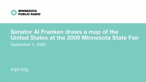 Thumbnail for entry Al Fraken draws the 50 states.