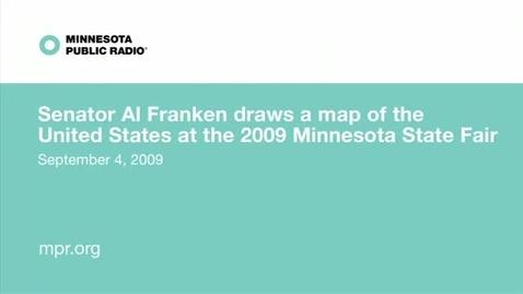 Thumbnail for entry Al Fraken draws the 50 states.
