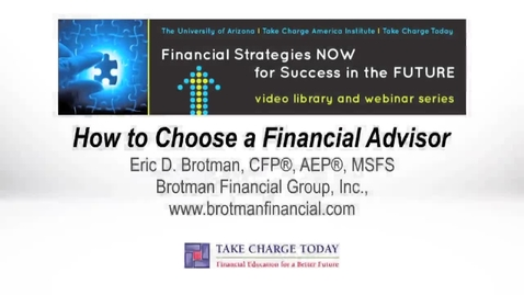 Thumbnail for entry How to Choose a Financial Advisor