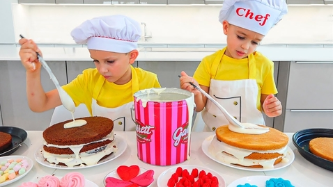 Thumbnail for entry Vlad and Niki Cooking and playing with Mom - Funny stories for children
