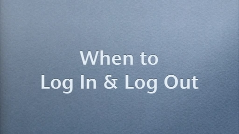 Thumbnail for entry Log Out of MacBook