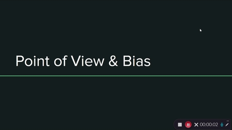 Thumbnail for entry 6th Point of View and Bias