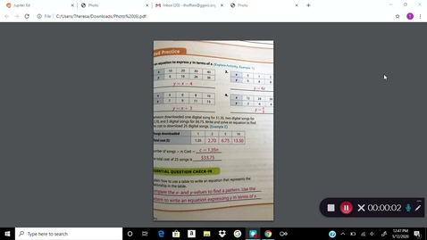 Thumbnail for entry 6 Math 5/13 Lesson Kaltura Capture recording - May 12th 2020, 12:47:03 pm