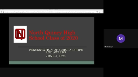 Thumbnail for entry North Quincy High School Class of 2020 Scholarship Ceremony June 5, 2020.mp4