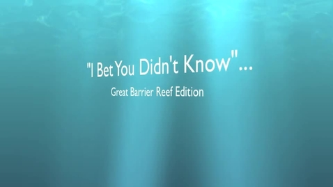 Thumbnail for entry The Great Barrier Reef