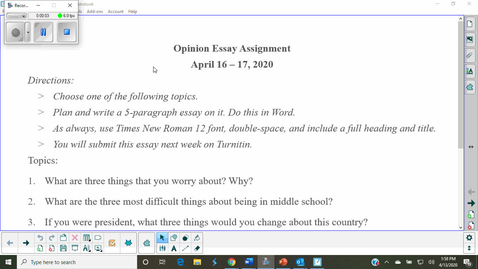 Thumbnail for entry Opinion Essay Assignment Instructions