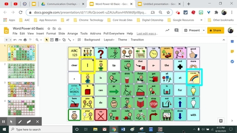 Thumbnail for entry Creating Google Slides Communication Pages