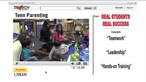Thumbnail for entry Tri Tech Teen Parenting 2014-2015