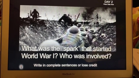 Thumbnail for entry WWI PowerPoint 2