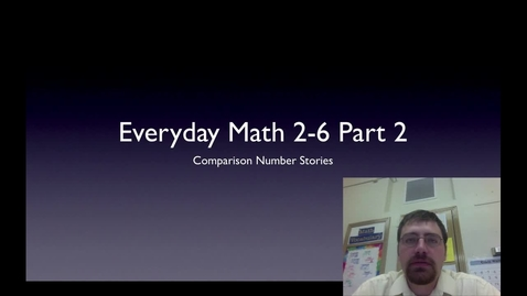 Thumbnail for entry 2-6 Comparison Number Stories