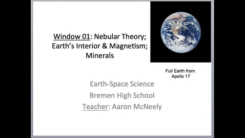 Thumbnail for entry ESA Window 01 Lecture