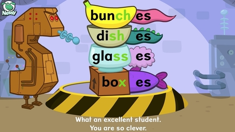 Thumbnail for entry Nessy Spelling Strategy | Plurals -s -es | Learn to Spell