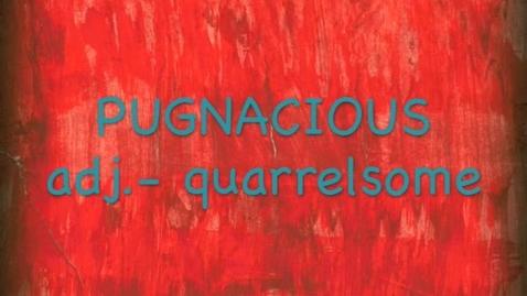 Thumbnail for entry Pugnacious -- BrainFlix.com Voab Contest