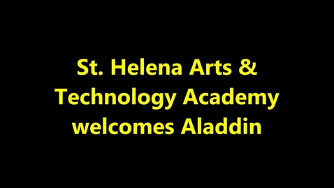 Thumbnail for entry St. Helena Arts & Technology Academy Welcomes Aladdin & Motown