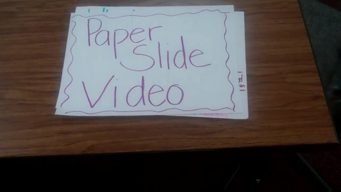 Thumbnail for entry How to Create a Paper Slide Video