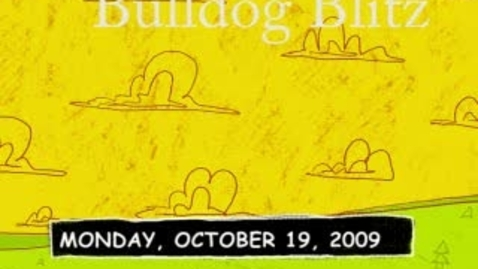 Thumbnail for entry Bulldog Blitz Oct. 19, 2009