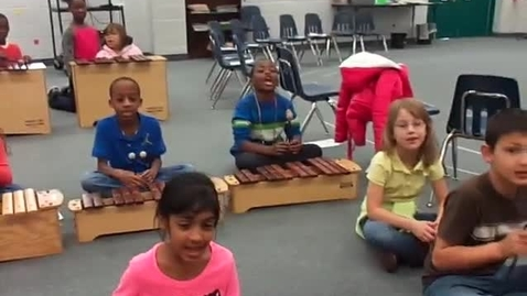 """Thumbnail for entry Ms. Stewart's class """"When the Saints Go Marching In"""""""